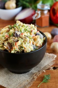 Vegan Rainbow Potato Salad - ilovevegan.com