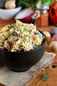 Vegan Rainbow Potato Salad - ilovevegan.com
