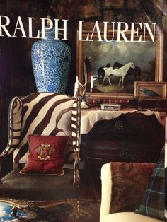 Anything Ralph Lauren.  Plaid, animal print, and blue and white.
