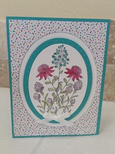 Beautiful card from our Stampin Up Sale-A-Bration Catalog. Free with a $50 order. You can order from my store @ carole4.stampinup.net :)