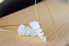Gold brass wire wrapped genuine frosted white sea glass, boho earrings, statement earrings, beachwear, gift for her by Christinasfamily on Etsy Boho Earrings, Statement Earrings, White Sea, Sea Glass Jewelry, Summer Sale, Wire Wrapping, Frost, Beachwear, Gifts For Her