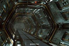 Sci Fi Corridor Tutorial, Vaughan Ling on ArtStation at www.artstation.co...