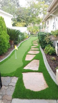 Veridian Artificial Turf Putting Green! Home Putting Green, Artificial Putting Green, Outdoor Putting Green, Artificial Turf, Backyard Playground, Backyard Patio Designs, Backyard Makeover, Interior Exterior, Backyard Landscaping