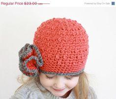 sale Crochet girls hat crochet ruffle hat girls by ktandthesquid, $19.55