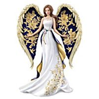 The Hamilton Collection Lena Liu Angel Figurine with Hand Applied Golden Floral and Hummingbird Artwork Porcelain Doll Makeup, Porcelain Dolls For Sale, Fine Porcelain, Porcelain Tiles, Blue Willow China, Doll Tattoo, Indian Dolls, Angel Art, Beautiful Dolls