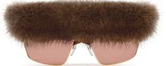 Givenchy enters the Mink eyeglass market featuring a mink top bar (2013) Retail $850.00