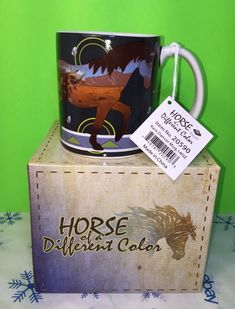 Horse Of A Different Color Rain Dancer 14oz Mug By Westland Giftware New Gift