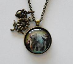 Grizzly Bear Necklace Bear Cubs Women's by HoovesHornsWingsPaws