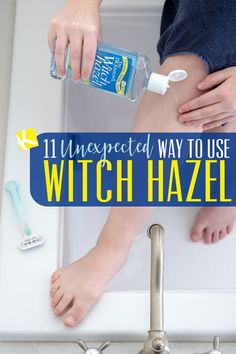 11 Unexpected Ways to Use Witch Hazel - Witch hazel is an astringent, yes, but that's just the start. I'm amazed to see all the different ways to use witch hazel that make me look and feel better. Vitamin E, Witch Hazel Uses, Witch Hazel For Hair, Heal Sunburn, Do It Yourself Organization, Nursing Tips, Combination Skin, Skin Care Tips, Good To Know