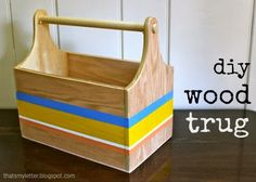 "That's My Letter: ""W"" is for Wood Trug"