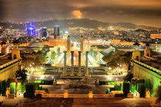 Cool view of Barcelona from Montjuic