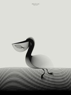 Andrea Minini'nin Hipnotize Edici Hayvan İllüstrasyonları * Bigumigu