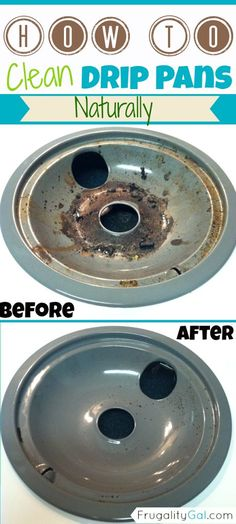 How to clean drip pans- the natural way!