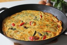 This roast vegetable frittata is a perfect way to use up leftover roast vegetables. Make it for a light lunch with a salad. Find more on Kidspot New Zealand. Roasted Vegetable Recipes, Roasted Vegetables, Vegetable Frittata, Vegetable Dishes, Baby Food Recipes, Cooking Recipes, Skillet Recipes, Frittata Recipes, Thermomix