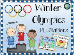 Winter Olympic P.E. Stations freebie! :)