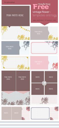 printable floral frames