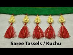 How to make saree kuchu with water drop shape beads l DIY l saree tassels l saree kuchu design Saree Tassels Designs, Saree Kuchu Designs, Fancy Blouse Designs, Beaded Embroidery, Hand Embroidery, Designer Blouse Patterns, Silk Thread, Beads, Diy Tutorial