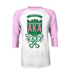AKA School Daze Raglan — Letters Greek Apparel - The Divine Nine Clothing Line