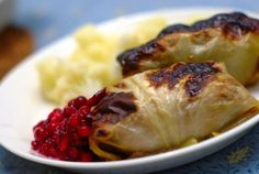 What is it? Steamed cabbage leaves stuffed with beef, onions and spices. Typically served with lingonberry jam.Find a recipe here.