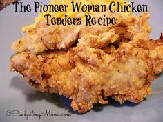 The Pioneer Woman Chicken Tenders recipe is out of this world amazing! My family raved and raved about these moist, delicious chicken tenders. My husband and boys were already asking me to make these again Turkey Recipes, Dinner Recipes, Kid Recipes, Turkey Dishes, Tofu Recipes, Holiday Recipes, Free Recipes, Dinner Ideas, Pioneer Woman Chicken