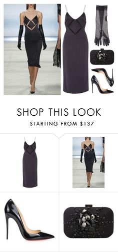 """Cushnie et Ochs"" by cherieaustin ❤ liked on Polyvore featuring Cushnie Et Ochs, Christian Louboutin, Swarovski, éS, christianlouboutin, Louboutin, karenmillen and cushnieetochs"