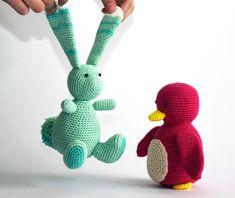 Turquoise knuffel konijn gehaakt   Etsy Cute Bunny, Crochet Animals, Dinosaur Stuffed Animal, Great Gifts, Cotton, Handmade, Turquoise, Etsy, Patience