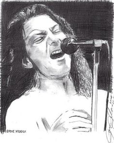 Eddie Vedder Drawing - Eddie Vedder by Jason Kasper