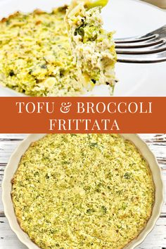 Tofu and Broccoli Frittata - A plant-based broccoli frittata recipe that is easy to make ahead and perfect for breakfast, brunch, lunch, or dinner. Vegan Brunch Recipes, Potluck Recipes, Tofu Recipes, Whole Food Recipes, Dinner Recipes, Easter Recipes, Easy Frittata Recipe, Frittata Recipes, Tips
