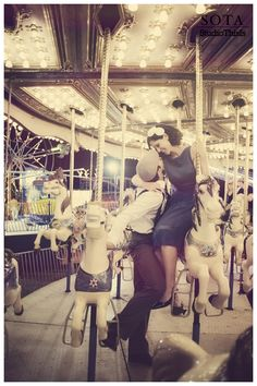 Love on a carousel #younglove #playful #truelove
