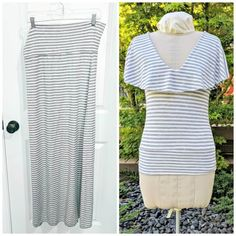 Transform an old maxi skirt into a flouncy t-shirt with this quick and easy sewing tutorial. A fluttery, flounce collar adds a feminine flair to a soft t-shirt. Easy Sewing Projects, Sewing Projects For Beginners, Sewing Hacks, Sewing Tutorials, Sewing Patterns, Sewing Ideas, Clothing Patterns, Skirt Patterns, Dress Tutorials