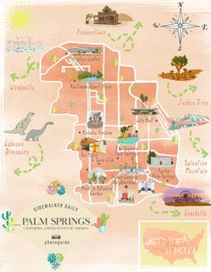 12 Best ART • Illustrated Palm Springs images