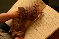 Ravelry: Lady Verity Mitts pattern by Leah Goldstein - Perhaps these will make the transcribing of manuscripts more enjoyable! Must make them!