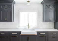 gray base cabinets with white counter tops - Google Search