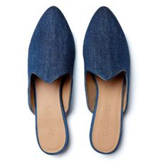 Le Monde Beryl's Dark Blue Denim Venetian Mules are handcrafted in Italy. They are made with a memory foam cushioned calf leather insole. Venetian, Calf Leather, Blue Denim, Calves, Dark Blue, Slippers, Flats, Emilio Pucci, Shopping