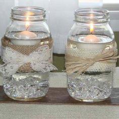 Mason jars and candles