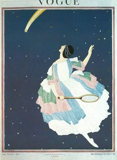 Vintage Vogue cover by George Wolfe Plank, October 1921