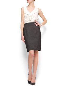 Mango Women's Ruffle Dress - Wear at Work Dress Pick