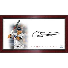 12c72518e4e GARY SANCHEZ Signed New York Yankees Batting Big Sig 16x32 Photo STEINER -  Game Day Legends