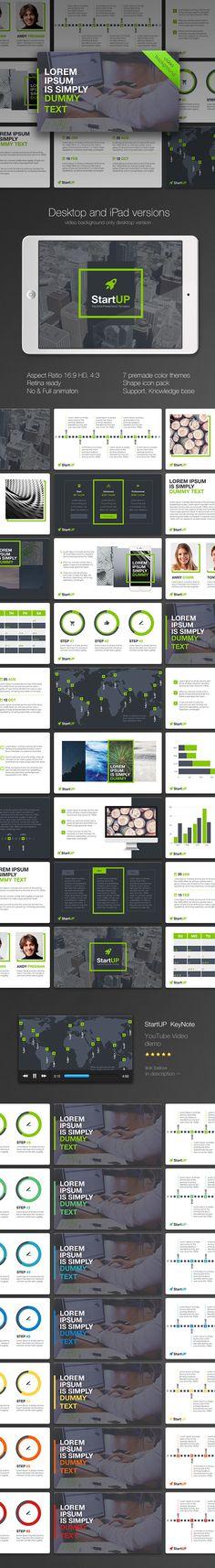 StartUP KeyNote Template. Download here: http://graphicriver.net/item/startup-keynote/14688638?ref=ksioks