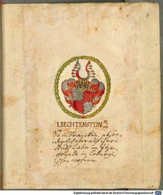 Wappen derer von Liechtenstein / Coat of Arms of The Family von Liechtenstein / Armas de la Familia von Lichtenstein