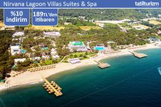 Nirvana Lagoon Villas Suites & Spa'nın çam ağaçlarıyla süslenen doğasına bayılacaksınız.. Üstelik 0-11 yaş arası 1. çocuk ile 0-6 yaş 2. çocuk ÜCRETSİZ!