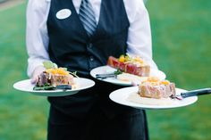 Now that's what I'm talking about! That's the type of food that should be served at EVERY wedding! Catering by Wente. #wente #wentecatering #weddingfood #culinaryperfection #finedining