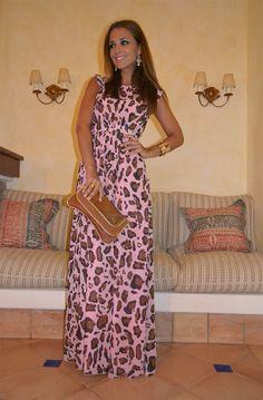 Paula Echevarria - vestido leopardo rosa