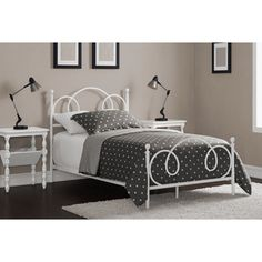 Shop for Charmers Cloud 9 Twin Bed White. Get free delivery On EVERYTHING* Overstock - Your Online Furniture Outlet Store! Teen Girl Rooms, Girls Bedroom, Bedroom Ideas, Queen Metal Bed, Home Goods Store, Cloud Shapes, Metal Beds, White Bedding, Decoration