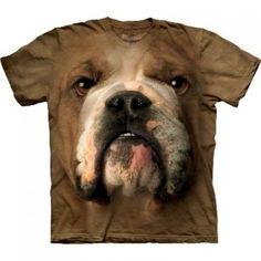 Animal cara t-shirt - Bulldog Inglés