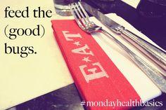 MONDAY BASICS: feed the (good) bugs. — good food + you