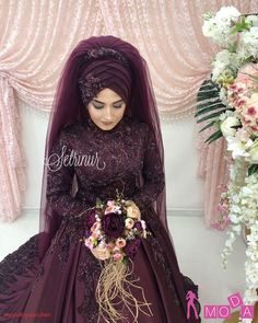 Weddings are special occasions wearing a Wedding Abaya fills the need of modesty. This also can be made extremely elegant check full Wedding Abaya guide. Muslim Wedding Gown, Wedding Abaya, Hijabi Wedding, Muslimah Wedding Dress, Disney Wedding Dresses, Muslim Brides, Muslim Dress, Pakistani Wedding Dresses, Bridal Dresses