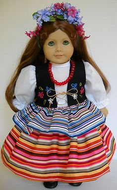 """Fits American Girl 18"""" doll clothes Polish Poland folk dance A (COSTUME ONLY)"""