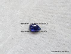 5x8MM Natural BLUE SAPPHIRE 5x8mm pear shape gemstone by GEMSONLY
