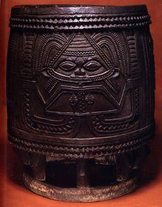Drum of Ijebu Yoruba  with orisha predecessor of Mami Wata
